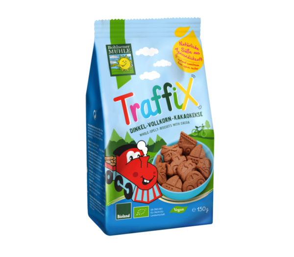 Bohlsener Mühle Bio Traffix tönköly csokis gyerek keksz 150g