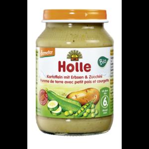 Holle bio bébiétel burgonya, borsó cukkinivel 190g