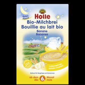 Holle bio banános tejkása 250g tejpép