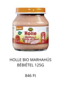 Holle bio marhahús bébiétel