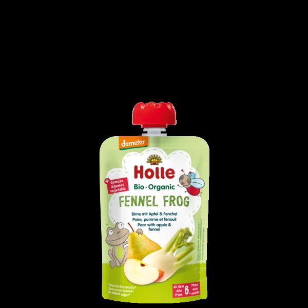 Holle Fennel Frog bio tasakos püré körte almával és édesköménnyel 100g