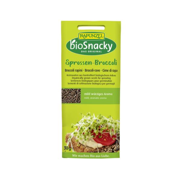 Rapunzel biosnacky bio brokkoli csíramag otthoni csíráztatáshoz
